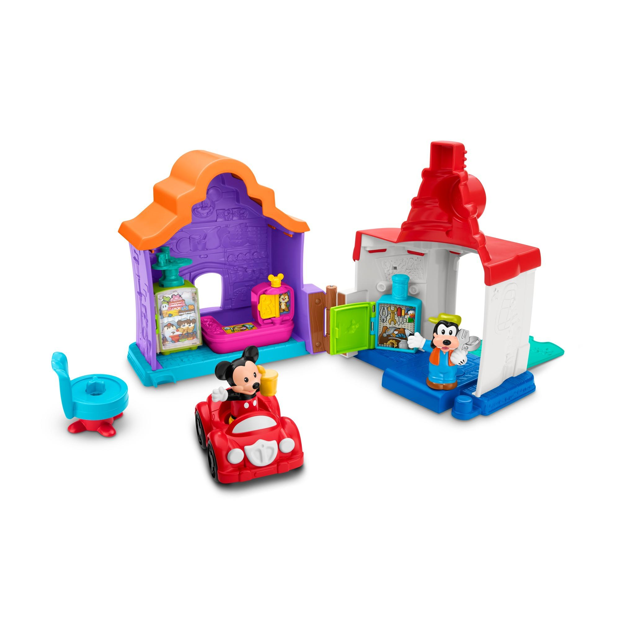 Magic of Disney Mickey & Goofy's Gas and Dine Playset By Little People by FISHER PRICE