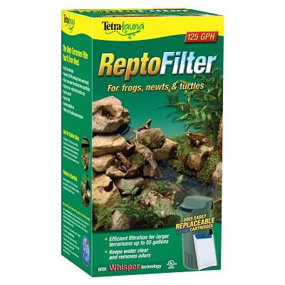 Tetrafauna ReptoFilter Reptile Terrarium Filter, 125 GPH, Upto 55 gal