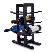 Bamboo Wine Rack – Holds 12 Bottles of Your Favorite Wine – Sleek and Chic Looking Wine Rack (Black), BAMBOO WINE RACK (BLACK) stores up to 12 bottles of your.., By Sorbus