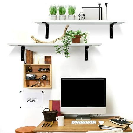Ktaxon Floating Shelves Wall Mounted Display Ledge Shelf with Bracket for - Floating Shelf Brackets