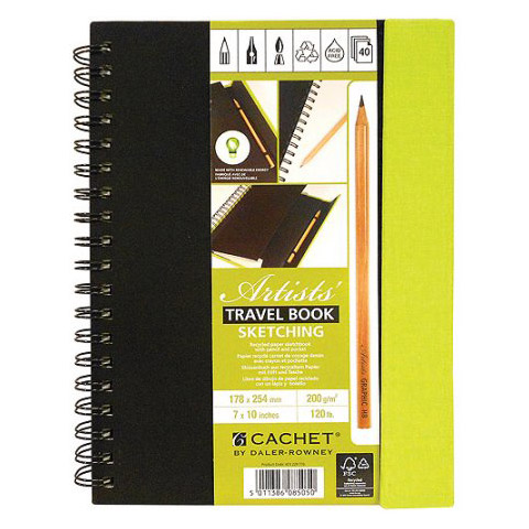 Cachet Artist's Travel Sketchbook: 7 x 10 inches, 40 Sheets