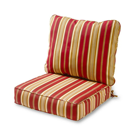 Greendale Home Fashions Roma Stripe Outdoor Deep Seat Cushion Set
