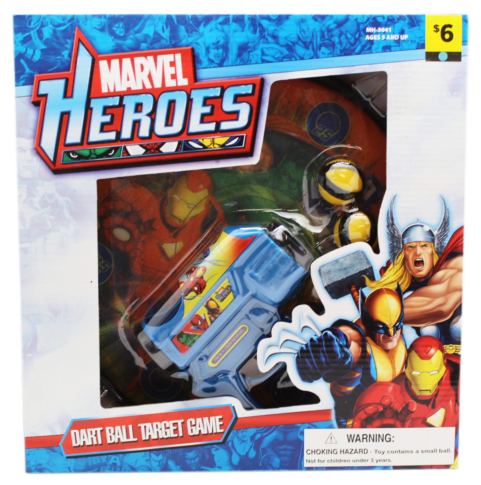 Marvel Heroes Dart Ball Target Game