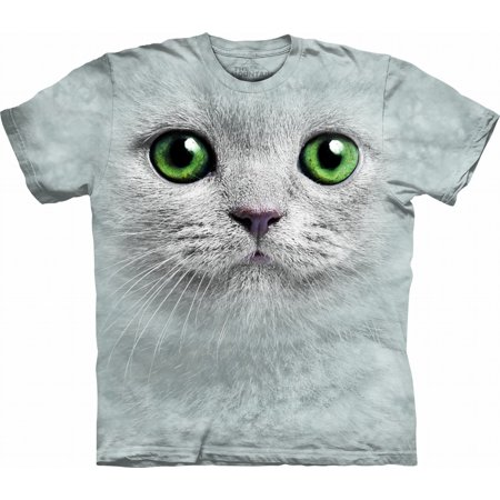 Adult Off-White 100% Cotton Green Eyes Face - Fame Light T-shirt