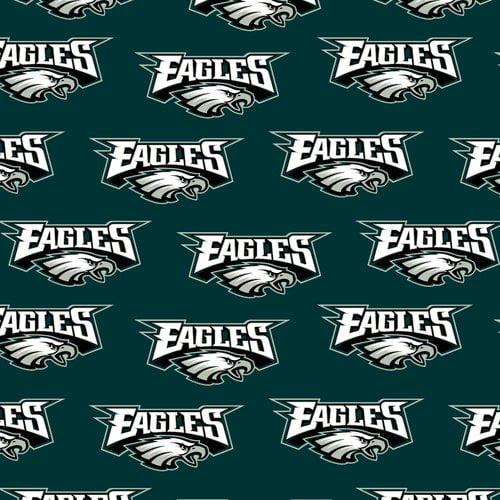 Nfl Philadelphia Eagles Cotton Fabric Per Yard Walmart Com Walmart Com