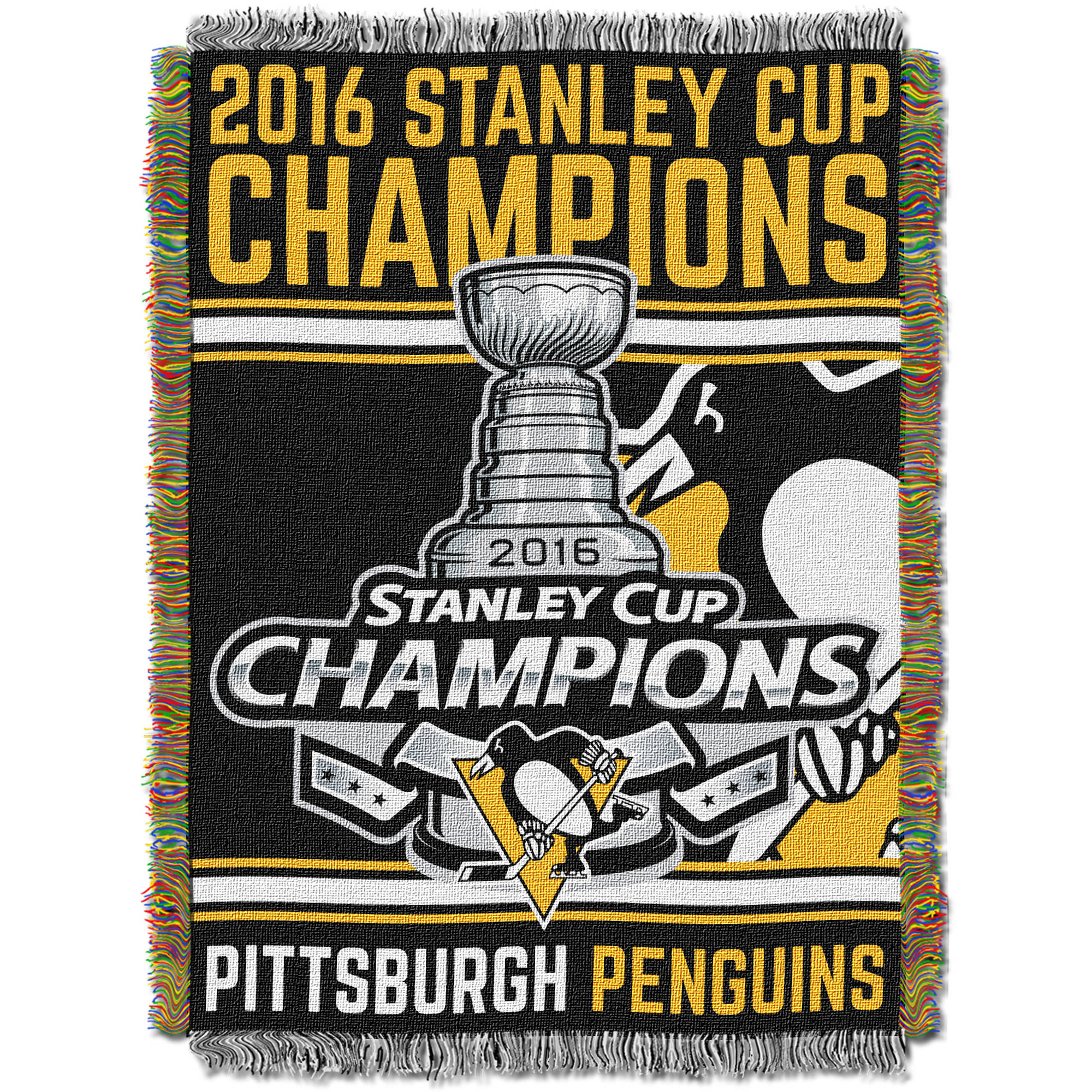 NHL Pittsburgh Penguins 2016 Stanley Cup Champions Tapestry Throw 196940