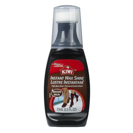 Kiwi Leather Instant Wax Shine  Brown  2 5 Oz