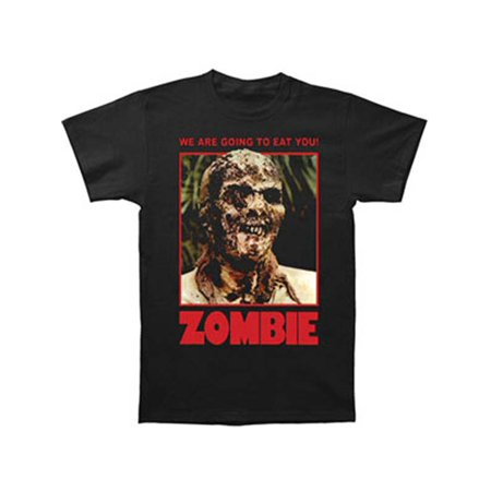 Zombie Men's  We Are Going To Eat You! T-shirt Black