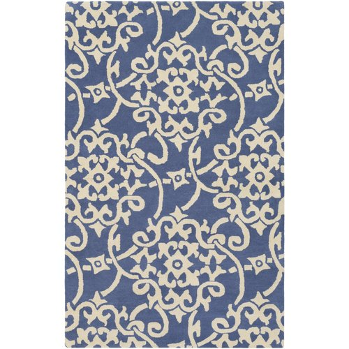 Charlton Home Millwood Hand-Tufted Violet/Butter Area Rug