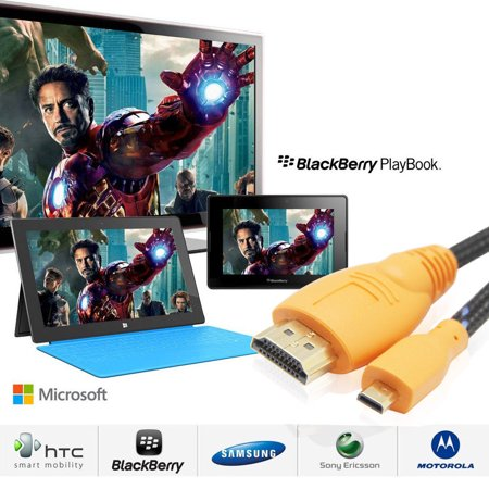 LivEditor High Speed Micro-HDMI (Typ D) to HDMI (Typ A) Cable 3D & 4K Resolution Ready,6FT - image 4 of 5