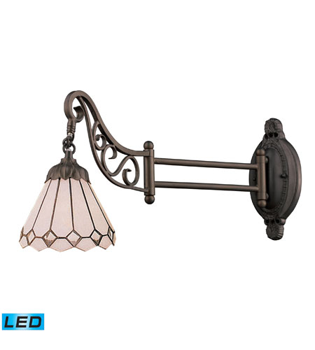 Wall Sconces 1 Light LED With Tiffany Bronze Finish 04 Glass 24 inch 13.5 Watts - World of Lamp