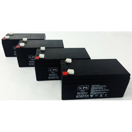 - SPS Brand 12V 3.4 Ah Replacement Battery for APC RBC35 -Non OEM Only (4 Pack)
