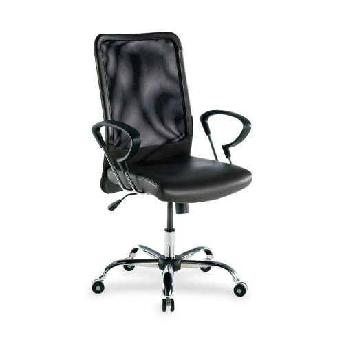 Lorell Executive High-Back Leather Swivel Chair