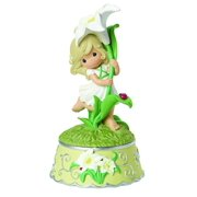 Precious Moments Girl With Lily Flower Resin Music Box 154105