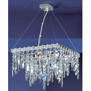 16 in. Uptown Mini Chandelier in Chrome Finish (Crystalique)