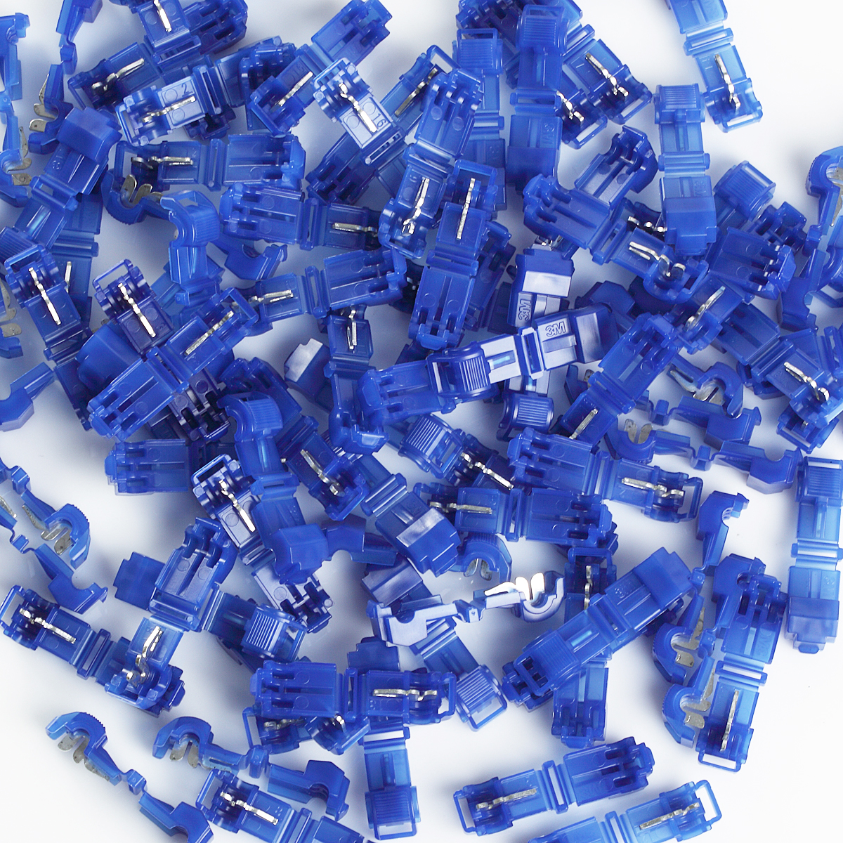 3M 952 T-TAP Quick Disconnect Wire Connector Blue 16-14 Ga Gauge Terminal 100 PCs