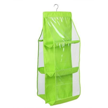 Dilwe 6 Pocket Shelf Bags Purse Handbags Organizer Door Hanging Storage Closet Hanger Decor