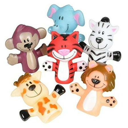 - Animal Finger Puppets -12 Per Package – Fun Toy For Boys And Girls – By Kidsco