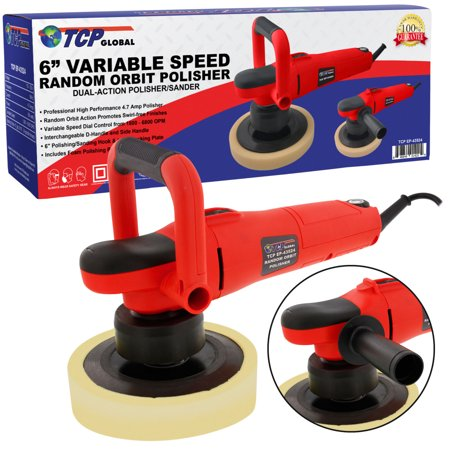 Tcp Global 6   Variable Speed Random Orbit Dual Action Polisher  Professional High Performance