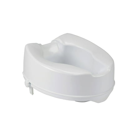 Drive Medical Raised Toilet Seat with Lock, Standard Seat, 6