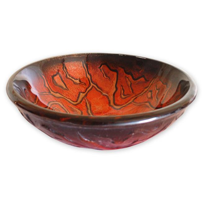 Eden Bath EB-GS28 Molten Lava Glass Vessel Sink