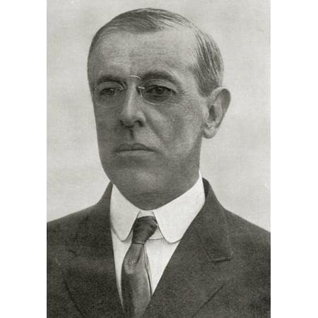 Thomas Woodrow Wilson 1856  Canvas Art - Ken Welsh  Design Pics (13 x (Woodrow Wilson Best Known For)