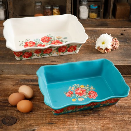 The Pioneer Woman Vintage Floral 2-Piece Baker Set
