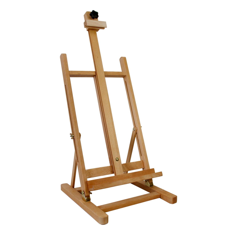 US Art Supply Adjustable Medium Tabletop H-Frame Wood Studio Artist ...