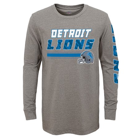 Youth Gray Detroit Lions Tri-Blend Long Sleeve T-Shirt
