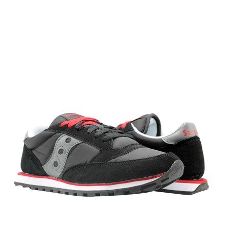 Saucony Jazz Low Pro Black/Grey/Red Men's Running Shoes - Mens Jazz Shoe