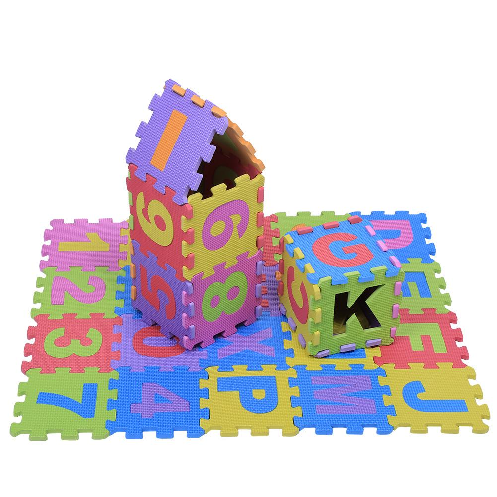 36Pcs Soft EVA Foam Play Mat Numbers /& Letters Baby Children Kids Playing Crawling Pad Toys New EVA Foam Mat