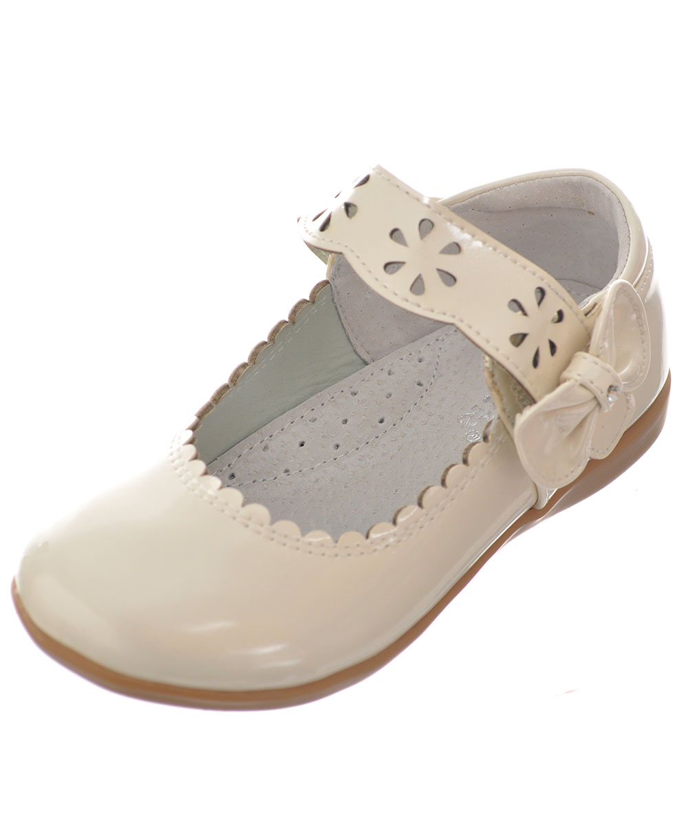"Link Baby Girls' ""Bow Shine"" Mary Janes"