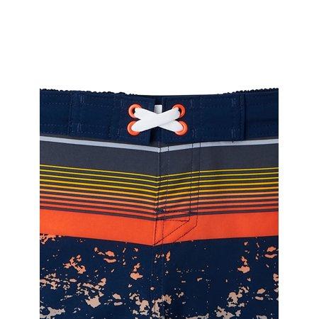 Wonder Nation Boys Quick Dry Swim Trunks, UPF 50+, Sizes 4-18 & Husky