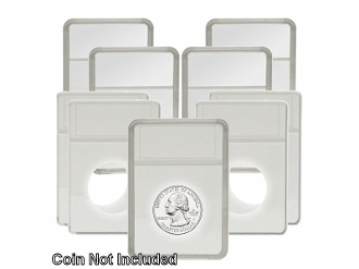 25 pack Quarter White BCW Display Slab with Foam Insert-Combo