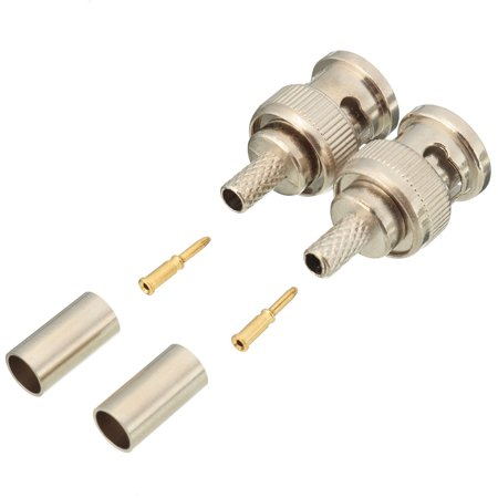 10 Sets 3-Piece BNC Plug Crimp Connectors for RG58 RG-58 Coax Male Antenna Cable - image 4 of 6