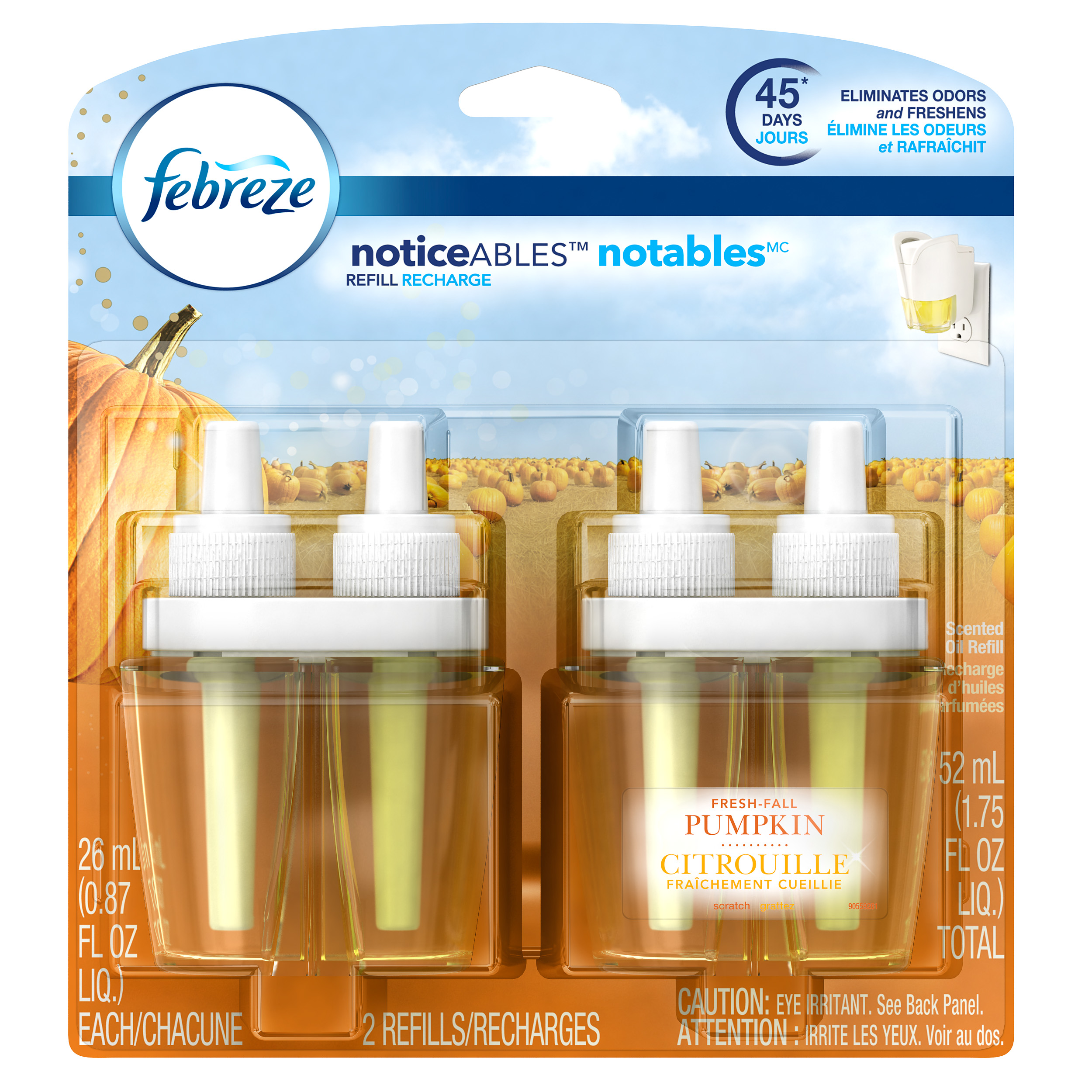 Scented oil refill features a meadows and rain scent to enhance rooms with the fresh, dewy scent of a rainy day. Unique odor converters transform the structure of malodors to prevent your nose from detecting lingering smells in the air.