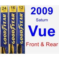 2009 Saturn Vue Wiper Blade Set/Kit (Front & Rear) (3 Blades) - Premium