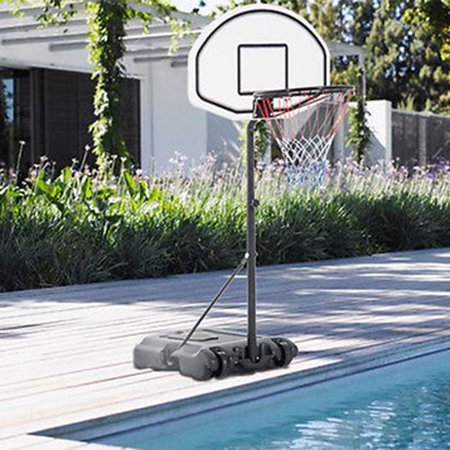 Zimtown 3ft - 4ft Height Adjustable Swimming Pool Basketball Hoop, Portable Basketball Goal Stand System with Wheels, Net, Backbord, for Swimming Poolside Great for Kids Youth Playing Water