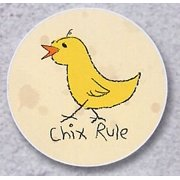 AutoCoaster ~ Chix Rule ~ Tile Drink Coaster for car cupholder - code 206