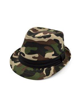 d592f516f14 Product Image Premium Camouflage Black Band Fedora Hat