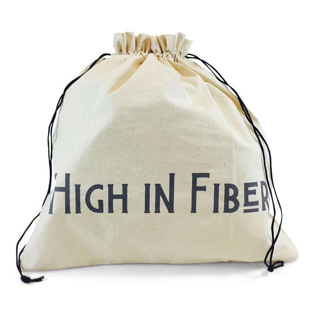 "della Q Edict Yarn Storage and Knitting Large Bag (14.5"" W x 16.5"" H) ""High in Fiber Low in Calories"""