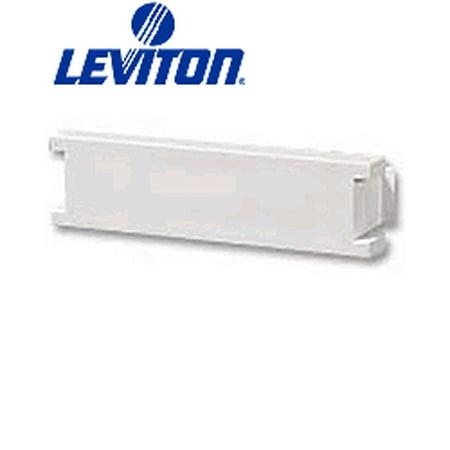 - Leviton 41295-5BI MOS Insert Blank Module 0.5 Units High - Ivory