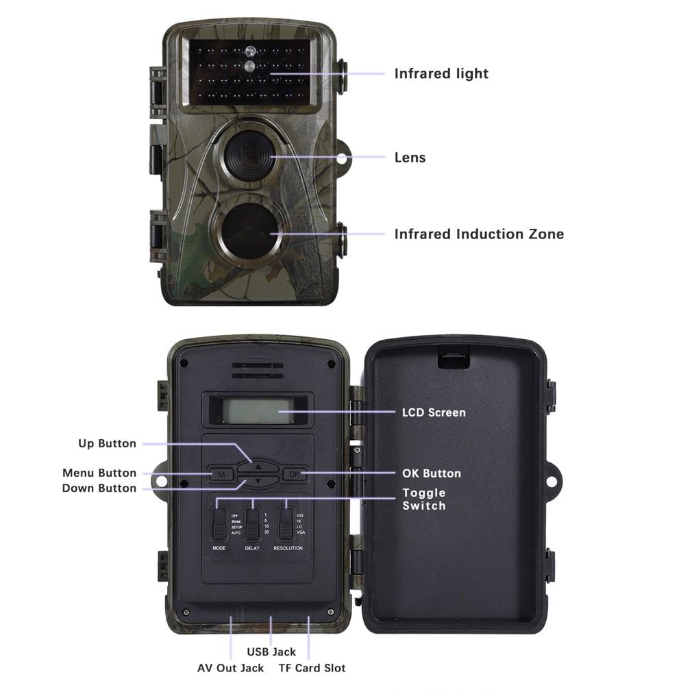 0.6s Toggle Speed Dustproof Water Resistant IP56 5 Mega Pixel Scouting HD Infrared Trail Digital Hunting Camera H-3