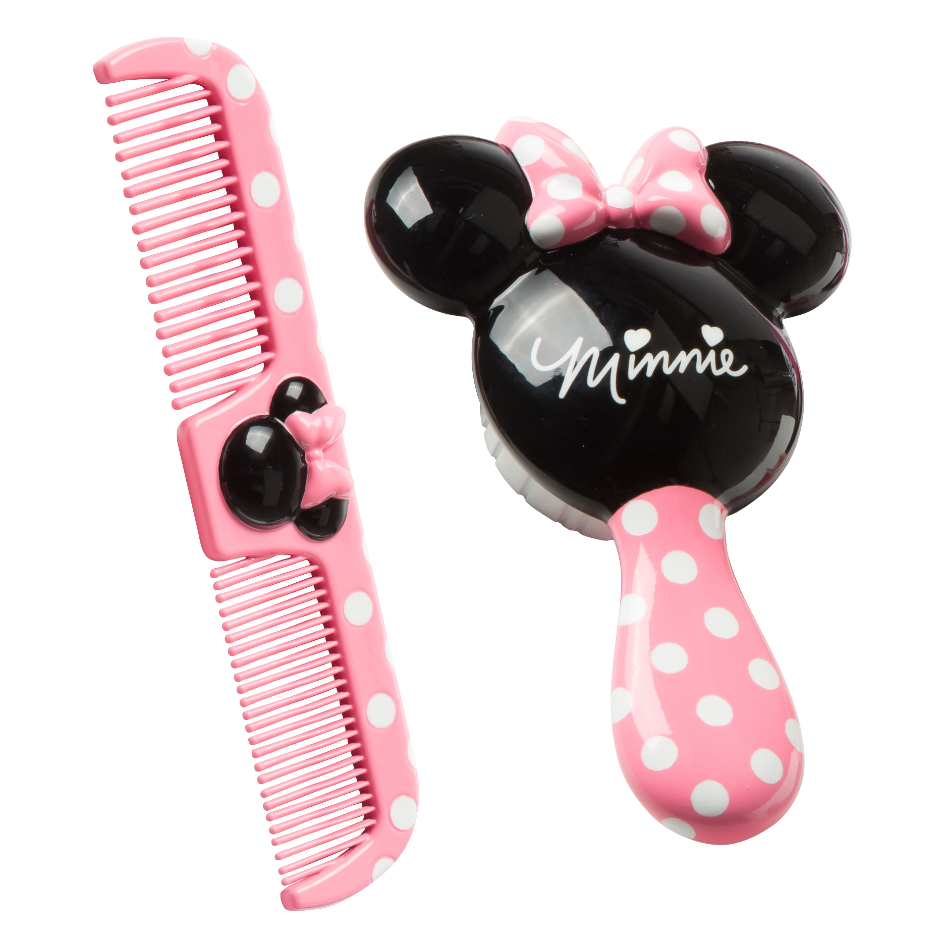 Disney Baby Minnie Brush & Comb Set with Easy-Grip Handle, Minnie