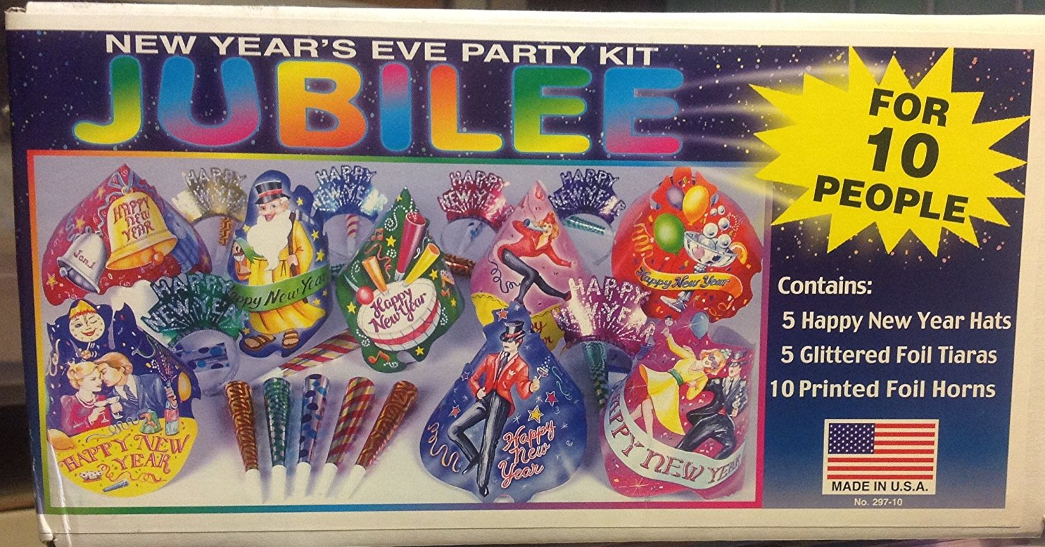 New Years Eve Jubilee Multi Colored Party Pack Kit for 10 ...