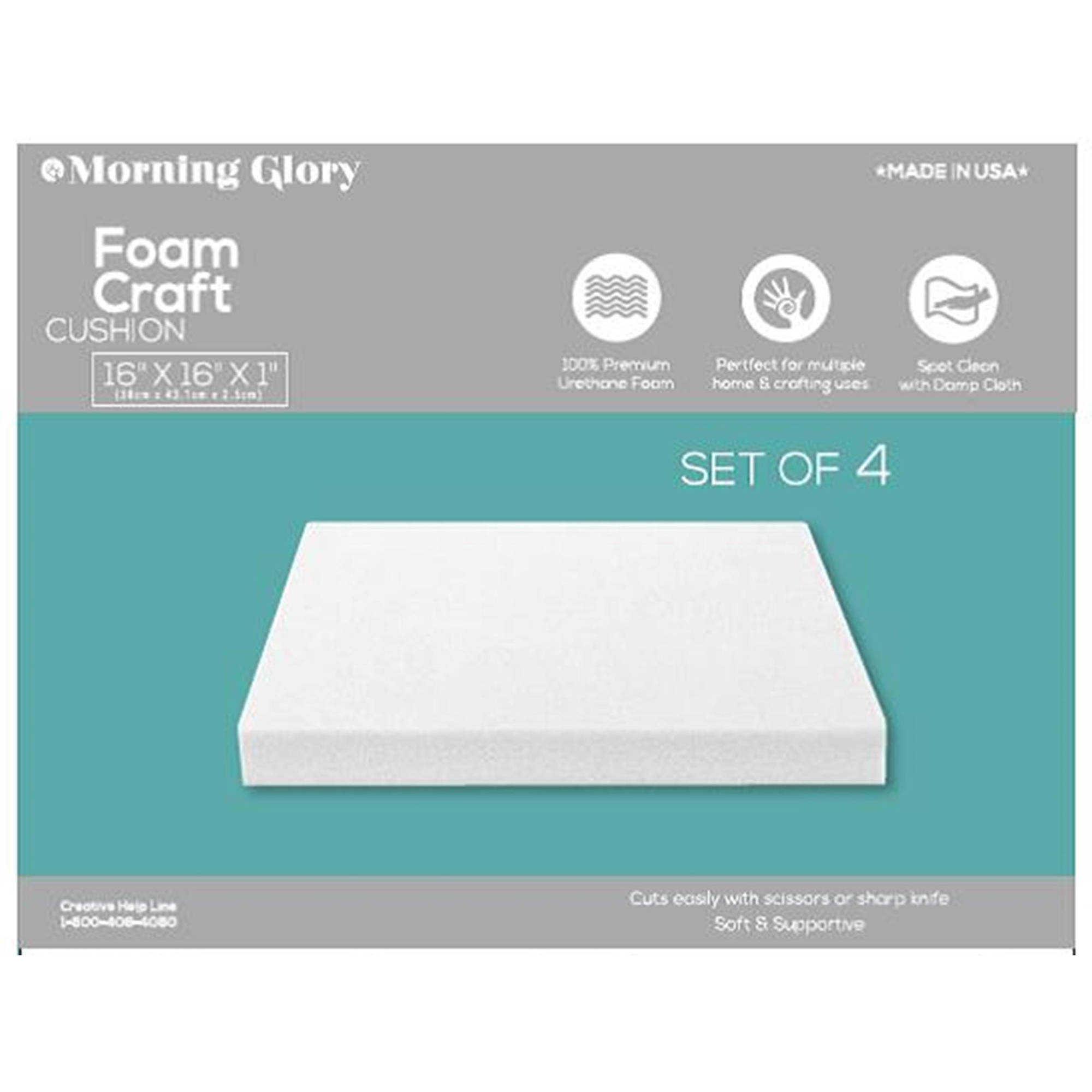 "Morning Glory Foam Seat Cushions 4-Pack, 16""L x 16""W x 1""H"