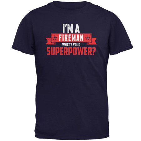 Fireman Outfit For Adults (I'm A Fireman What's Your Superpower Navy Adult)