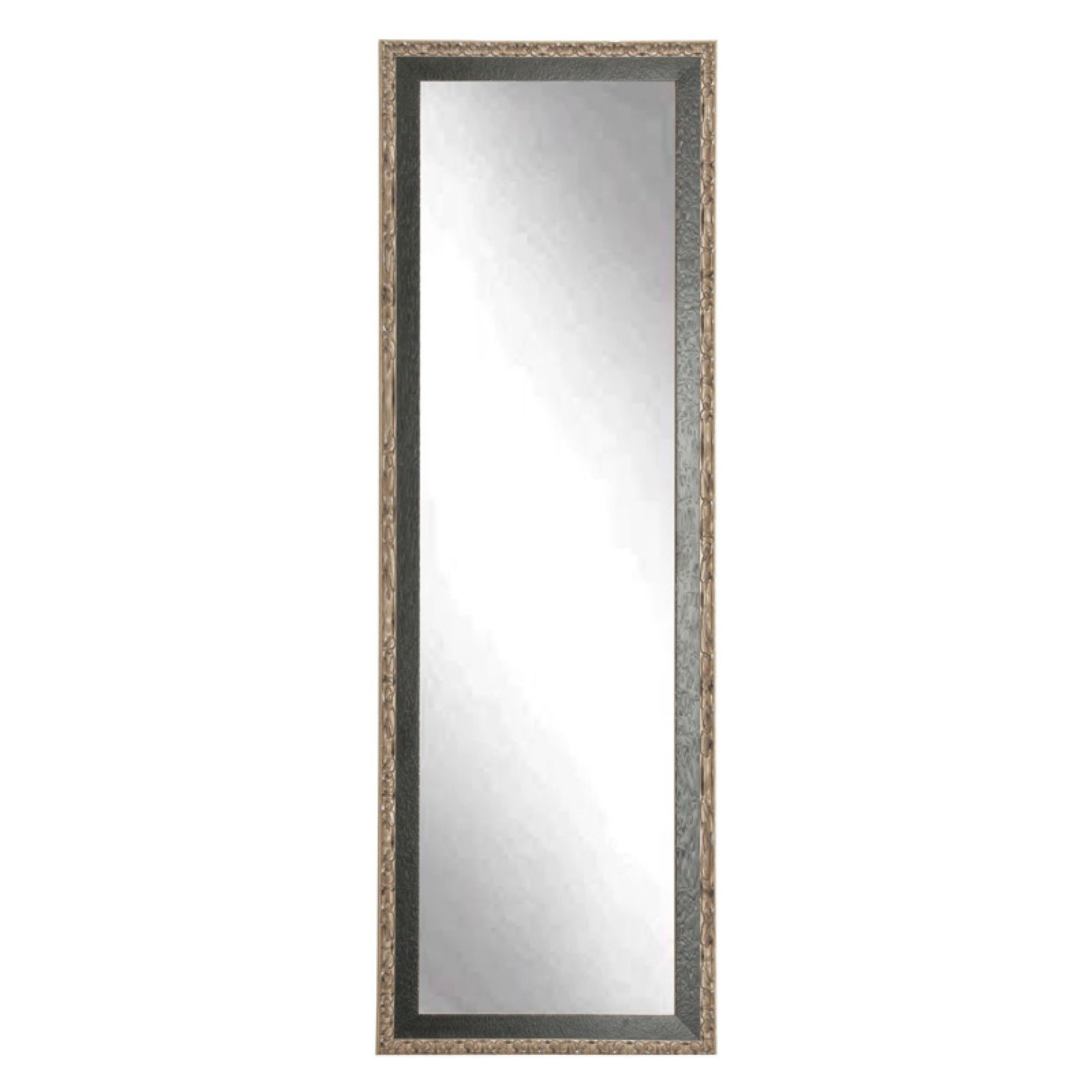 BrandtWorks American Accent Leaning Floor Mirror Black Pewter by Overstock