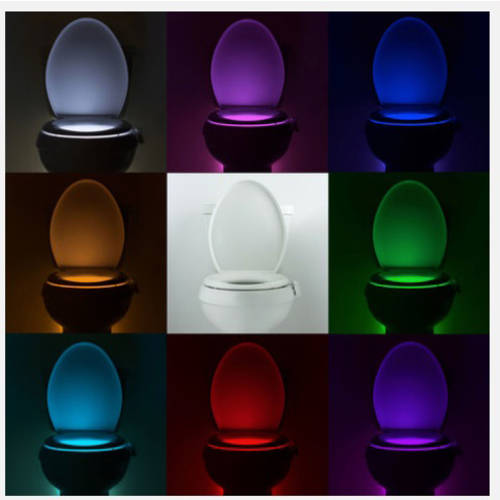 Bathroom Night Light illumibowl motion-activated bathroom toilet night light - walmart