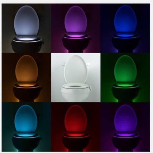 Bathroom Light Keeps Going Out illumibowl motion-activated bathroom toilet night light - walmart